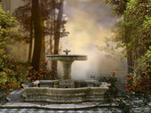 Fountain in the forest — Stock Photo