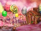 Candy landscape — Stock Photo