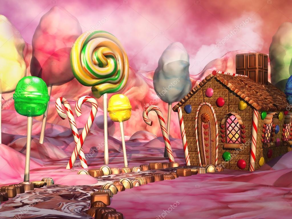 Paysage de bonbons photographie fairytaledesign 30653519 - Casa di caramelle ...