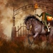 Headless horseman — Stock Photo