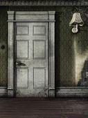 Door in an old room — Stock Photo