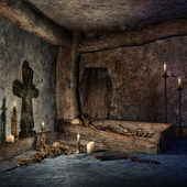 Ancient crypt — Stock Photo