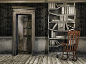 Dusty wooden room — Stockfoto