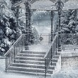 Stock Photo: Snowy gazebo
