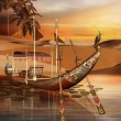 Egyptian boat — Stock Photo