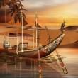 Egyptian boat — Stock Photo