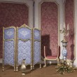 Room with a dressing screen — Stock Photo