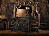 Fantasy iron altar — Stock Photo