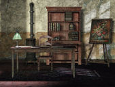 Old room with vintage furniture — Stock Photo
