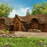 Lumberjack's cottage — Stock Photo