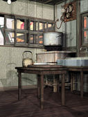 Old kitchen — Stock Photo
