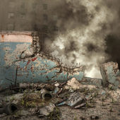 City ruins and rubble — Stock fotografie