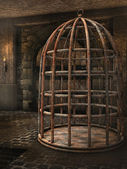 Cage in a dungeon — Stock fotografie