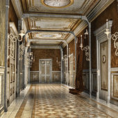 Corridor in a palace — Stock Photo
