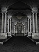 Ancient temple interior — Stock Photo