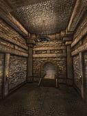 коридор подземелий — Стоковое фото