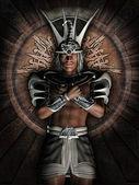 Fantasy Egyptian warrior — Stock Photo