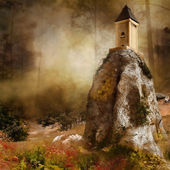 Tower on a rock — Stock Photo