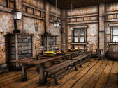 Old tavern interior — Stock Photo