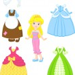 Cinderella dresses — Stock Vector