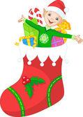 рождественский эльф — Cтоковый вектор