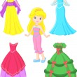 Stock Vector: Princess dress