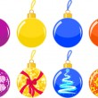 Stock Vector: Christmas balls