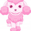 Stock Vector: Pink poodle