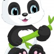 Stock Vector: Cute panda
