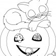 Stock Vector: Halloween coloring page