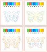 Butterfly coloring — Stock Vector