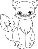 Cat coloring page — Stock Vector