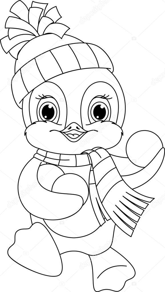 Coloriage pingouin image vectorielle malyaka 50305395 - Coloriage pinguin ...