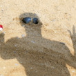 HUMAN SHADOW ON SAND — Stock Photo
