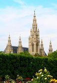 CITY HALL OF VIENNA (RATHAUS) — 图库照片