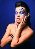 Make-up blu — Foto Stock