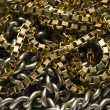 Stock Photo: Gold and silver chain