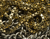 Gold and silver chain — Stock Photo