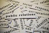 Public relations, PR — Stock Photo
