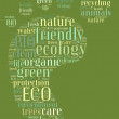 Tag or word cloud ecology related in shape of footprint — Stock Photo
