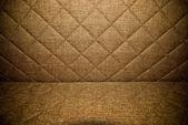 棕色绗缝的椅垫背景或纹理 — 图库照片
