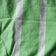 Stock Photo: White and green striped woven material background or texture