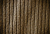 Brown regular striped and woven material background or texture — Stock Photo