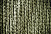 Olive regular striped and woven material background or texture — Stock Photo