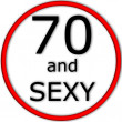 Stock Photo: Funny concept of traffic or road sign with age value