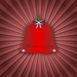 Abstract christmas greeting card or postcard with red bell — Stock Photo #31842229