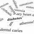 Foto de Stock  : Health care concept of diseases caused by unhealthy nutrition