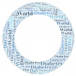 label of word cloud wereld diabetes dag gerelateerde in vorm van cirkel — Stockfoto #32919891