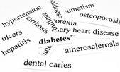 Concetto di assistenza sanitaria di malattie causate da nutrizione malsana — Foto Stock