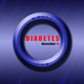 Graphic design World Diabetes Day related — Stock Photo